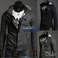 New Hot Casual Mens Stylish Coat Slim Long Sleeve Jacket T-Shirt Top Outwear