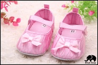 Satin material. A toddler soft sole shoes, non-slip bottom, pink, white, black, three size, free shipping