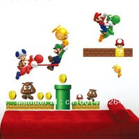 Super Mario Bros wall stickers mural wall decor room decal