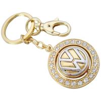 2014 fashion key chain elegant rhinestone unique luxury auto car mark of compass keychain bag pendant