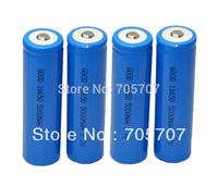 new 5pcs li-ion 5000mah Rechargeable Flashlight  torch 18650 battery free shipping