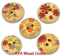 Free Shipping 200PCSMixed batch 2 holes multicolour painted wooden buttons 15mm (AY24L07X05) sewing handcraft clothes buttons