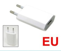 Free shipping Top Quality 20pcs/lot AC White Travel Power USB Adapter Wall Chargers For iPhone 5 4 4S 3GS iPod EU Euro Plug