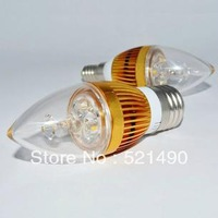 220v E14 led crystal lamp 3w/5w tip candle led light bulb freeshipping
