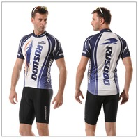 Free Shipping  2013 RUSUOO man cycling jersey bicycle clothing short-sleeved suit men cycling sport shirt  D-023