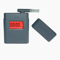 Free shipping! 3-digit LCD Alcohol Tester Clock & red Backlight & 5pcs Mouthpieces dropship wholesale