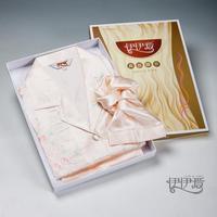 Wire silk sleepwear female 100 mulberry silk modern silk sleepwear pants set