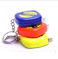 Portable mini tape measure key chain accessories 1 m tape key chain