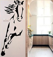 Free shipping!  [Wholesale and retail] Horse 40cmX100cm --Vinyl wall art mural decals wall sticker home decor d-51