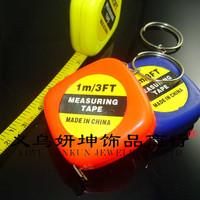 Portable mini cartoon tape measure key chain pendant 1 m tape key chain
