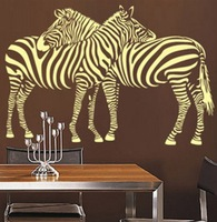 Free shipping!  [Wholesale and retail] Loving zebra --Vinyl wall art mural decals wall sticker home decor d-53