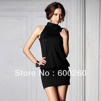 Holiday Sale 2013 New arrivie rose sexy backless dress small black formal dress free shipping#5347