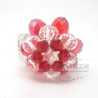 Factory Outlet Crystal animal fruit cell phone accessories crystal crafts hand knitting 10/pc