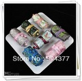 Silk Fabric Jewelry Roll Bag Travel Storage High quality 5pcs/lot mix color Free shipping