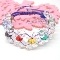 Factory Outlet Crystal crafts crystal bracelet diy crystal bracelet hand-knitted  3/pc