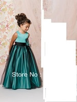 Free Shipping Taffeta Kids Evening Gowns Girl Party Toddler First communion Bridesmaid Dress For Little Girls Flower Girl Dress