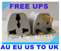 free shipping ups sg my tw kr, 3 pin US USA EU EUROPE AUSTRALIA AU   to 3 pin UK  universal Travel uk Plug Adapter  SPPS003