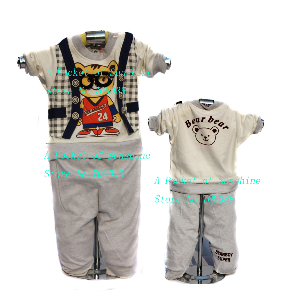 Sale 2013 new arrival lovely cartoon palid baby suit set boy clothes suits top and pant 2pcs toddler outfits spring 3sets/lot(China (Mainland))