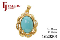 Fashion jewellry 18K gold plated Charm pendant jewelry for women ,nickel free ,factory price 1620201