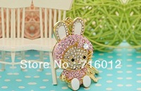 Free Shipping wholesale key chains, alloy rhinestone hello kitty key chains in golden tone width free jewelry gift-50pc/lot