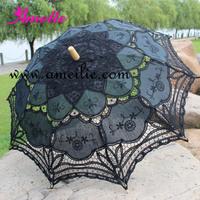 20PCS/Lot DHL or EMS Free Shipping 100% Cotton munual craft lace wedding parasols