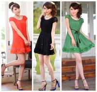 Новая мода весна лето шифон черный плюс размер случайных t рубашки женщин Футболка и юбка юбки женской одежды набор