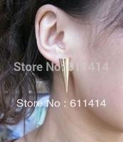 EC027,free shipping wholesale fashion rivet earrings,punk earrings