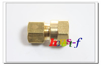 "5 x New Brass 3/8"" OD x 3/8"" Female NPT Compression Connector Fitting"