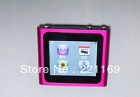 "HK post Free Shipping,1pcs 16GB 6th 1.8"" Touch Screen 6Gen mp3 mp4 player"