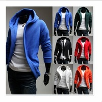 2012 New Men's Hoodies South Korea sweatshirt Leisure Color Hoodies Fleeces hooded Hoodies On Sale Free Shipping[07-1689]