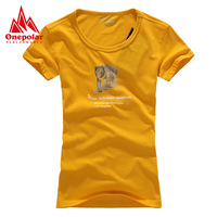 Onepolar polar outside sport breathable quick-drying perspicuousness slim short-sleeve T-shirt Women
