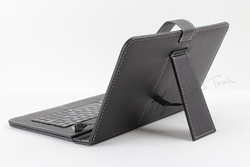 Free Shipping 2013 New 9 inch Keyboard Leather Case USB Micro Interface for Universal 9 Inch Tablet PC, Black(China (Mainland))