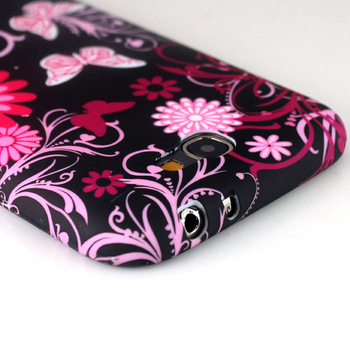 1PCS Colorful Flower Butterfly Soft Silicone Skin Cover Case For Samsung Galaxy Note 2 II N7100, Free & Drop Shipping