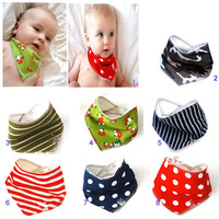 20pcs/lot cute cartoon Children's accessories super super cute baby drool towel/triangle scarf bib necessary  free shipping Baby