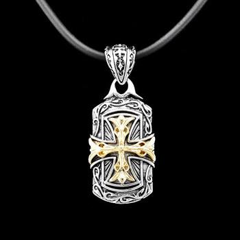 High Quality Brand Necklace/  Platinum & Gold Cross Pendant/ Handmade Baroque Necklace/ Trendy Jeweleries