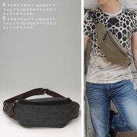 Free shipping 2012 waist pack male bag brief casual bag small chest pack canvas bag b966