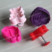 Free shipping,4pcs Love theme plunger cutter set,cookie cutter,cookie stamps