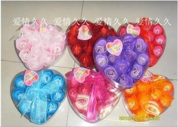 Soap flower heart 12 dcrv rose soap flower gift wedding female