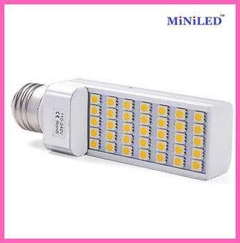 2pcs Aluminium cover LED Bulb 7W 5050 SMD 35 LED E27/E26/E14/G24 Corn Light Lamp White 127*35* 36mm Free Mail