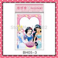 Free Shipping three princess passport holders 100pcs/lot passport covers Card holders