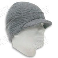 men's winter knit visor cap skull hat ski beanie