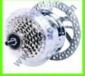 rear disc-brake 7 -speed  135mm hall / no hall ,motor
