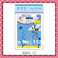 Free Shipping blue Birds passport holders 100pcs/lot passport covers Card holders