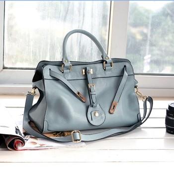 2014 Graceful Women Good Taste Bags Fashion Genuine Leather Handbag Tote High Quality Soft Cow Leather Shoulder Bag Messenger