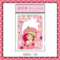 Free Shipping Strawberry girls passport holders 100pcs/lot passport covers Card holders