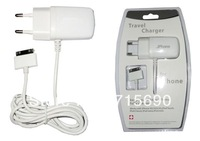 Home Adapter Wall Travel Power  Charger for iPad 2/ iPhone 4/ 4s /iPod Touch 4  UK/EU/US Plug free shipping