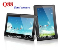 "Cheap Q88 Dual camera All Winner A13 1.2GHz 4GB/512MB 7"" Capacitive Android 4.0 Tablet PC MID"