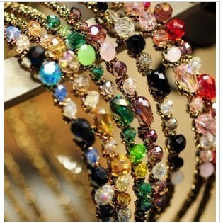 TS068 colorful Noble crystal Headband Hairpin jewelry!free shipping crystal shop hair jewelry!