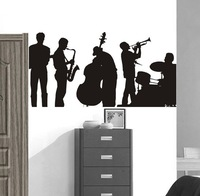 Free shipping!  [Wholesale and retail]Music performance--Vinyl wall art mural decals wall sticker home decor r-130