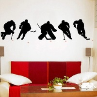 Free shipping!  [Wholesale and retail] ICE HOCKEY PLAYERS - Wall Decals Stickers Murals kids r-172